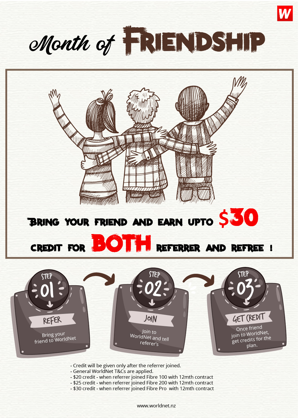 Bring Your Friend and Get max $30 CREDIT!!