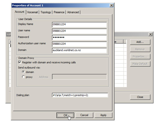 Setting up VIP-Free softphone X-Lite : Worldnet